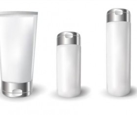 Cosmetics blank tubes with mock up vector 04