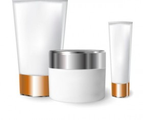 Cosmetics blank tubes with mock up vector 05