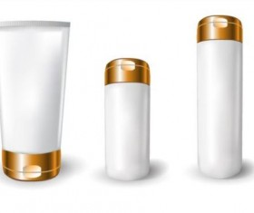 Cosmetics blank tubes with mock up vector 07