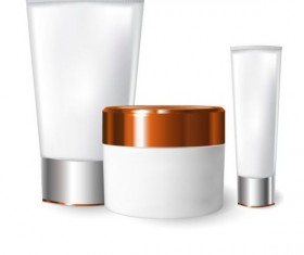 Cosmetics blank tubes with mock up vector 11