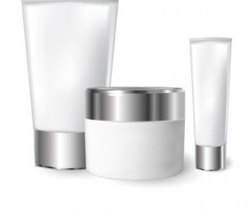 Cosmetics blank tubes with mock up vector 13