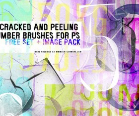 Crached and peeling photoshop brushes