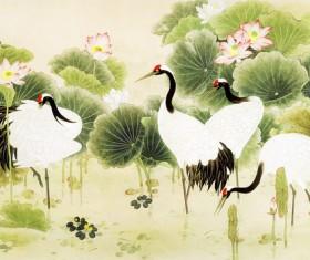 Crane Naochun painting HD picture