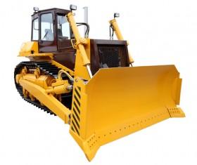 Crawler type bulldozer Stock Photo