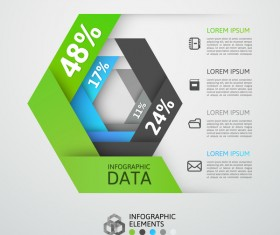 Creative origami infographic template vector 10