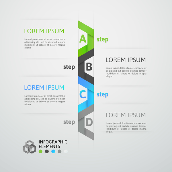 Creative origami infographic template vector 13