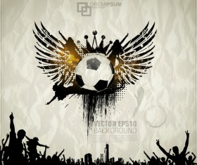 Creative party background with grunge vector 08