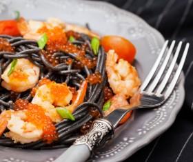 Cuttlefish sauce seafood pasta Stock Photo