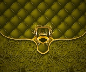 Dark green luxury floral vector background