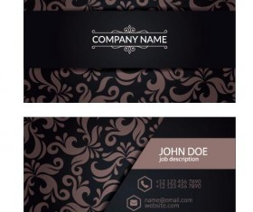 Decor floral with business card vector