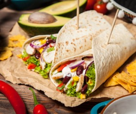 Delicious Mexican burritos Stock Photo 05