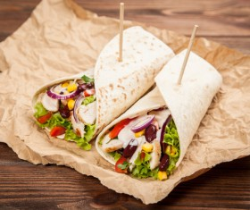 Delicious Mexican burritos Stock Photo 10