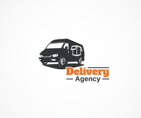 Delivery agency logo design vector