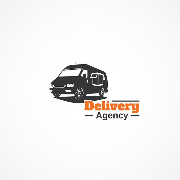 Delivery agency logo design vector