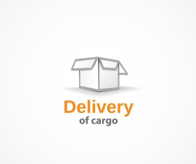 Delivery of cargo logo design vector