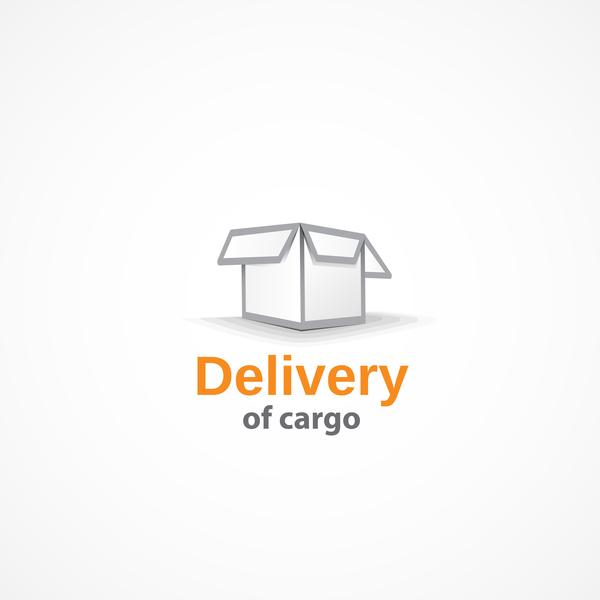 Delivery of cargo logo design vector