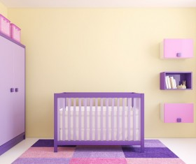 Dream Purple children's room Stock Photo