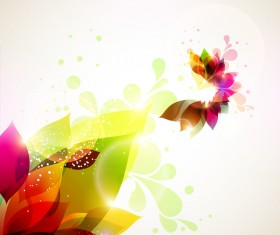 Dream floral abstract background vectors 01