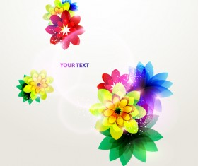 Dream floral abstract background vectors 02