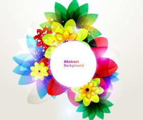 Dream floral abstract background vectors 03