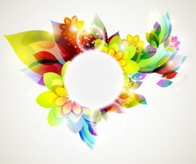 Dream floral abstract background vectors 04