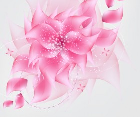 Dream pink flower vector material
