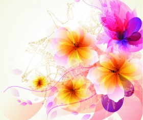 Dreamlike floral abstract background vector