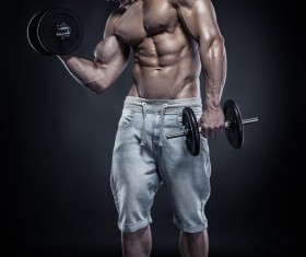 Dumbbell fitness man HD picture
