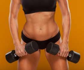 Dumbbell fitness woman HD picture