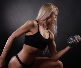 Exercise arm Fitness woman HD picture