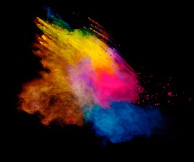 Explosion of Colored Powder Stock Photo 01
