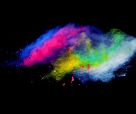 Explosion of Colored Powder Stock Photo 02