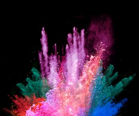 Explosion of Colored Powder Stock Photo 03
