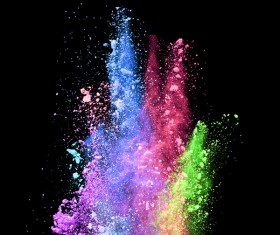 Explosion of Colored Powder Stock Photo 04