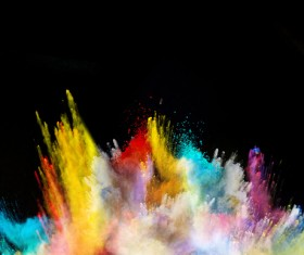 Explosion of Colored Powder Stock Photo 07