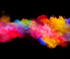 Explosion of Colored Powder Stock Photo 08