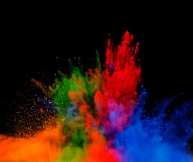 Explosion of Colored Powder Stock Photo 09