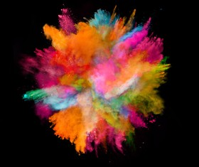 Explosion of Colored Powder Stock Photo 10