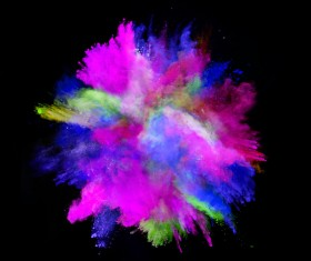 Explosion of Colored Powder Stock Photo 11