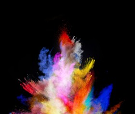 Explosion of Colored Powder Stock Photo 12