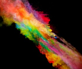 Explosion of Colored Powder Stock Photo 14