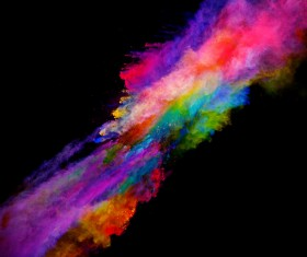 Explosion of Colored Powder Stock Photo 15
