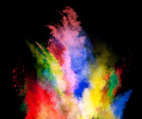 Explosion of Colored Powder Stock Photo 16