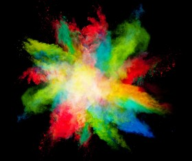 Explosion of Colored Powder Stock Photo 17