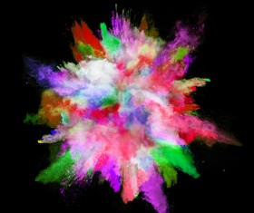 Explosion of Colored Powder Stock Photo 18