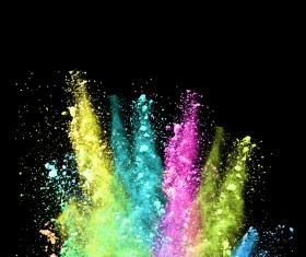Explosion of Colored Powder Stock Photo 19