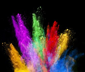 Explosion of Colored Powder Stock Photo 20