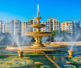 Famous fountains around the world Stock Photo 05