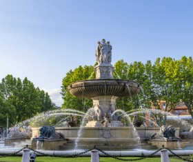 Famous fountains around the world Stock Photo 08