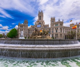 Famous fountains around the world Stock Photo 09